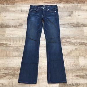 7 For All Mankind 27 Bootcut Jeans Dark Stretch